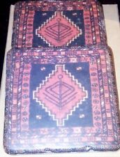 Drink Coasters. 2 x Stone Tile Coasters W/ Egypt-Style Design. Cork Back. 10x10.