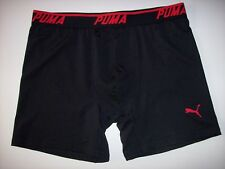 Mens PUMA Underwear Boxer Brief Black Red Logo Large NWOT