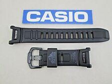 Genuine Casio Pro Trek Tough Solar PRG-130Y watch band strap black rubber resin