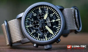 Lum-Tec Watch - Combat B - B44 Camo Chronograph w/ Two Military-Style Straps