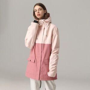 Thick Warm Ski Suit Waterproof Windproof Coat Snowboarding Jacket Set Outdoor