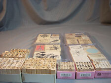 Huge Lot Of 146 Wooden Rubber Stamps Stamping Scrapbooking Great Set