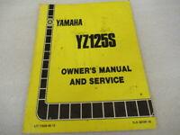 Yamaha YZ125S Owner's Service Manual P/N LIT-11626-05-13