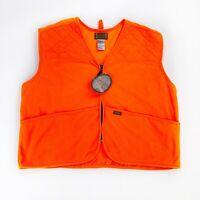 NEW Mens XL Sports Afield Lightweight Blaze Orange Hunting Vest NWT