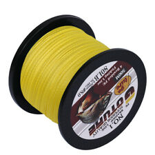 Goture 500M 4 Strands Braided Line Multifilament PE Fishing Line Yellow 20LB