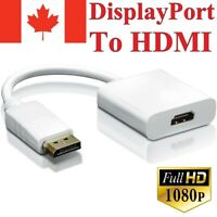 DisplayPort (DP) to HDMI Adapter Male to Female Video Cable Converter For PC TV