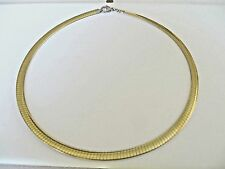 "Women's Gold Plated Stainless Steel Omega Necklace 18"" long 6 MM"