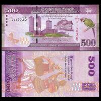 Sri Lanka 500 Rupees Rs 500 BankNote 2015-2017 UNC P-126  Ceylon
