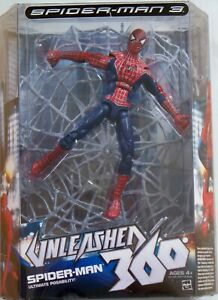 Legends Unleashed 360 Spider Man 3 with Web Ultimate Posability Spiderman Figure