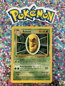 ⭐️ Kakuna Base Set Pokemon Card Wizards WotC Game Freak Nintendo 1999 🎏