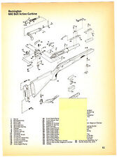 REMINGTON 660 CARBINE, 700 BOLT ACTION RIFLE EXPLODED VIEW/PARTS LIST 1974 AD