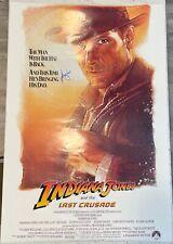 Harrison Ford Indiana Jones The Last Crusade Signed 27x40 Movie Poster W/ DG COA