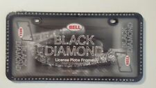 Bell Automotive 46501-8 Universal Black Diamond Design License Plate Frame