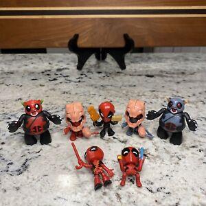 Deadpool Marvel Chimichanga Mini Figures Lot of 7 Dead Pooh Bear Hasbro 2018