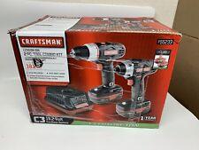 New Craftsman C3 19.2V Drill/ Impact Driver 2 Pc. Tool Combo Kit Set 2 Batteries
