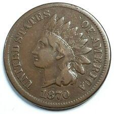 U.S. 1870 INDIAN HEAD PENNY 1C - FINE