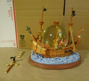 DISNEY PETER PAN Pirate Ship Snow Globe You Can Fly See Description Loose Pieces