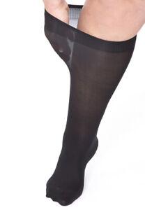Opaque Plus-Size Knee High Pop Socks Sox XL Large Wide/Calves/Legs/Ankles
