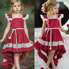 Kids Girls Summer Tunic Tutu Princess Party Formal Prom Gown Dresses Sundress