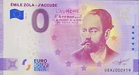 BILLET 0  EURO  EMILE ZOLA J'ACCUSE  FRANCE 2021   NUMERO RADAR 919