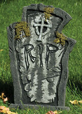 Halloween Party Deluxe Prop RIP Tombstone with Moss