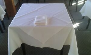 Ivory Tablecloths, Slips (toppers) & napkins - High Quality Restaurant Grade.