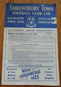 1961 League Cup Semi Final - Shrewsbury Town v Rotherham United