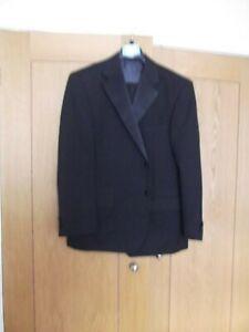 M&S Mens 2pc Evening Suit Black Regular Fit Size 42