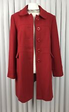 Size 20 Ladies Red Wool Blend Coat Big Button Lined Smart Occasion Casual Work