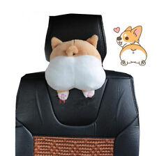 Novelty Cute&soft 3D Pet Dog Buttocks Car Headrest Seat Neck Cushion For Winter