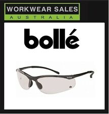 Bolle Safety Glasses - Sidewinder - Gun Metal Gloss Frame - Clear Lens