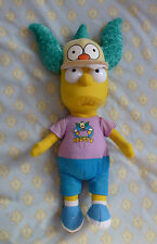 """BART SIMPSON WITH KRUSTY HAT SOFT TOY BRAND NEW SIZE APPROX; 20"""" TALL"""