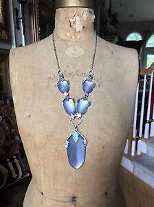 Alexis Bittar Purple Lucite LONG  CUBIST COLLECTION Necklace