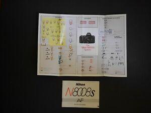 Vintage Original Nikon 8008S AF User Instruction Guide Manual + System Booklet