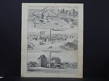 Wisconsin Engravings 1881 Oconto Fort Howard West DePere L23#56