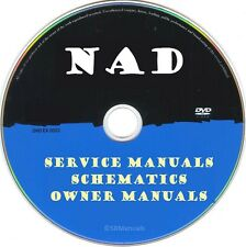 NAD Service Manuals & Schematics- PDFs on DVD - Ultimate Collection - SRManuals