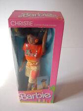 Vintage 1987 Mattel California Barbie African American Christie Doll #4443 NRFB!