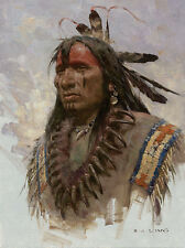 Z. S. Liang GRIZZLY CLAW NECKLACE, Native American Giclee Canvas #5/75