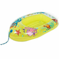 YELLOW COLOR JILONG INFLATABLE POOL WATER FLOATING BOAT BEACH LOUNGER FOR KIDS