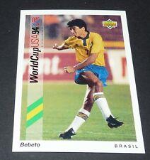 BEBETO BRASIL DEPOR FOOTBALL CARD UPPER DECK USA 94 PANINI 1994 WM94