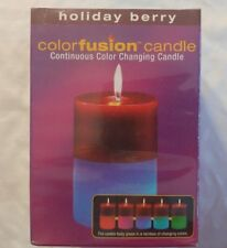 Colorfusion Continuous Color Changing Candle Holiday Berry Scent
