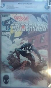 WEB OF SPIDER-MAN #1 CBCS 9.8 WHITE PAGES, Black Costume, Venom!