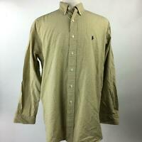 Ralph Lauren Multi Plaid Blake Two-Ply Cotton Button Down Shirt LS Mens Size L