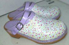 Hanna Anderson Purple Flowers Clogs Womens Size 39
