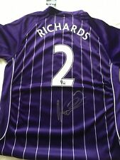 Rare Micah Richards Signed Manchester City 2007/08 Signed Shirt BNWT XL Official