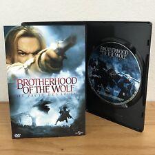 BROTHERHOOD OF THE WOLF (DVD, 2002) w/SCENE SELECTION INSERT Region 1 EUC!