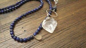 "Deb Guyot Designs Herkimer ""Diamond"" Quartz & Gem Necklace"