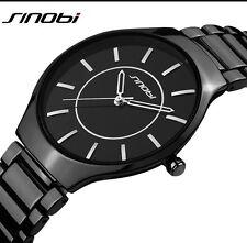 Ultrathin Black Dial Men's Watch Extraordinary Beautiful Elegant BusinessWatch