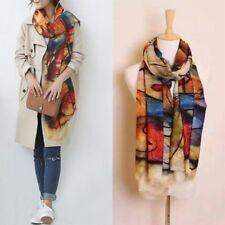 Mode Winter Warm Damen Lang Kaschmirwolle Schal Groß Schal Damen Kariert Schal