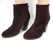 RAG & BONE CLASSIC NEWBURY BROWN SUEDE BACK ZIP ANKLE BOOTS WOMEN'S 39